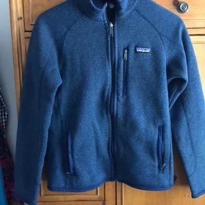 Patagonia blue zipped jacket